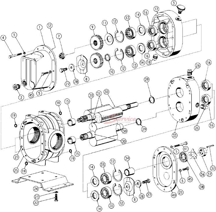 30 series duroflow parts list and exploded view