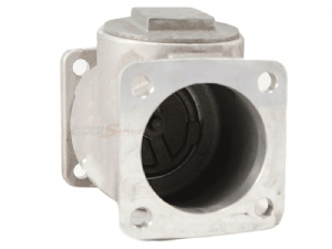 3in  Square Flange Swing Check Valve w/ Buna Rubber Seal